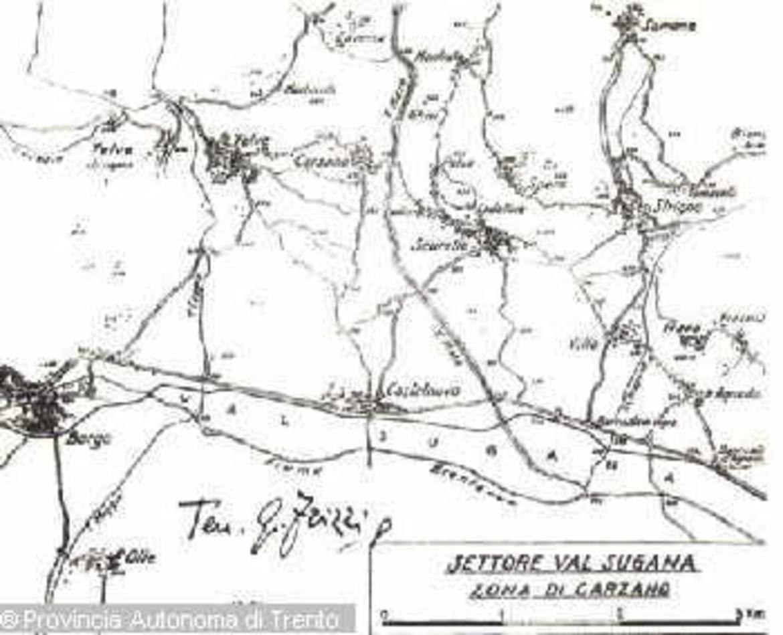 Cartina Geografica Trento.Carta Geografica Della Valsugana Trentino Cultura