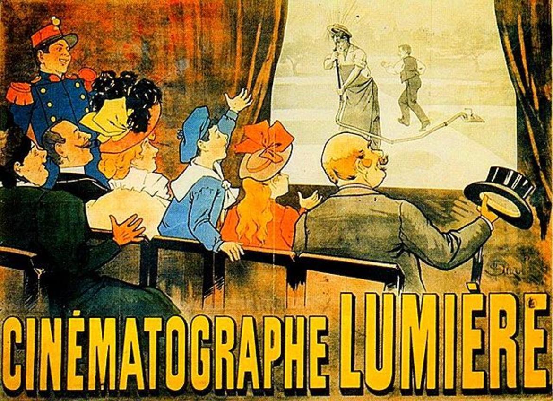 La prima proiezione dei fratelli Lumière