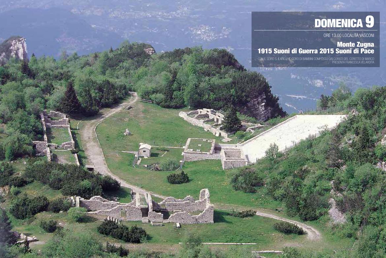 Monte zugna 1915 suoni di guerra 2015 suoni di pace for Monti del trentino